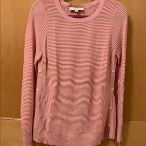 NWOT LOFT Long-Sleeved Pink Sweater - Size M
